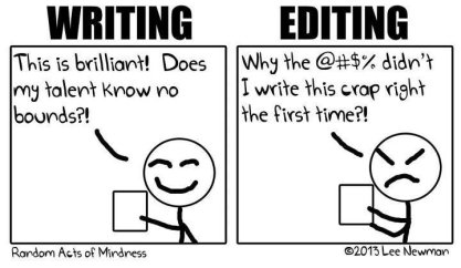 writing editing funny